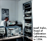 An experience you can count on : In 1994, Josef Hahn, the director of the accredited calibration laboratory